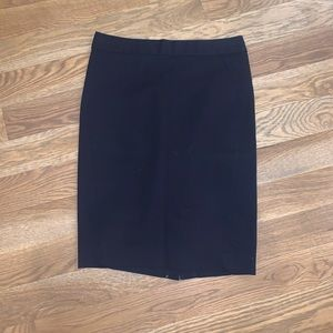 LOFT navy midi pencil skirt perfect for work